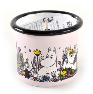 Moment Together- Moomin Candle in 15 cl Enamel Cup Thumbnail 1