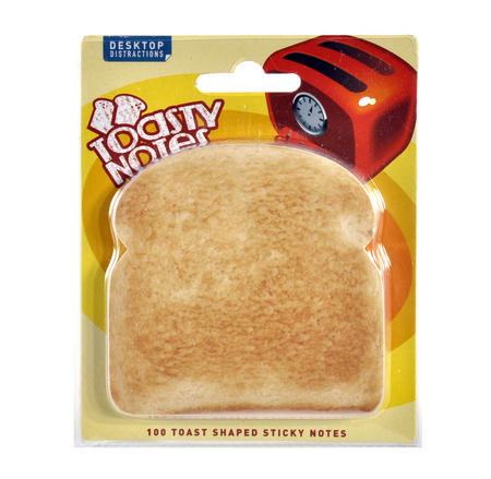 Toasty Notes - 100 Toast Shaped Sticky Notes
