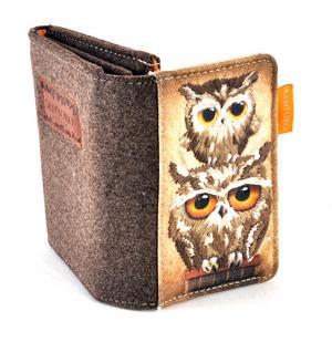 Book Owls - Wool & Canvas Wallet By Santoro Thumbnail 1