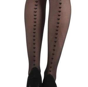 Heart Seam - Pamela Mann Tights - Black Thumbnail 1