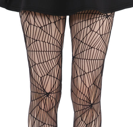 Cobweb Net - Pamela Mann Tights - Black