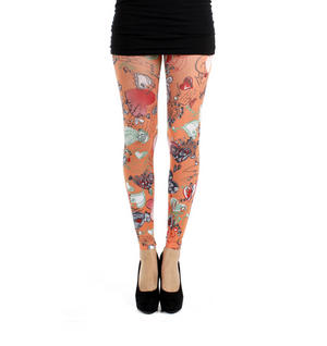 Doodle Hearts - Pamela Mann Footless Tights Thumbnail 2