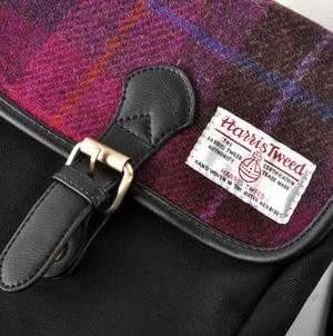 Harris Tweed Cerise Tartan Compact Side Bag Thumbnail 4