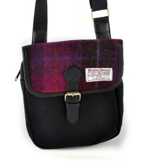 Harris Tweed Cerise Tartan Compact Side Bag Thumbnail 6