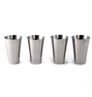 Large 4 Shot Cup Set in Black Leather Case Thumbnail 2