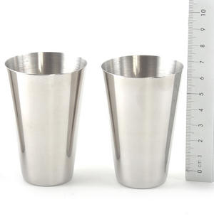 Large 4 Shot Cup Set in Black Leather Case Thumbnail 3
