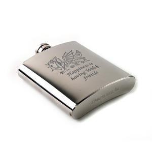 Happiness is Having Welsh Friends Hip Flask Thumbnail 2