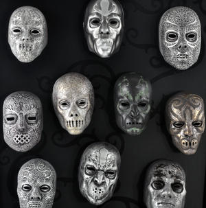Death Eater Mask Collection -  Noble Collection Harry Potter Wall Mount Thumbnail 4