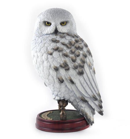 "Hedwig -  Handpainted Sculpture 9.5"" Noble Collection Harry Potter Replica"