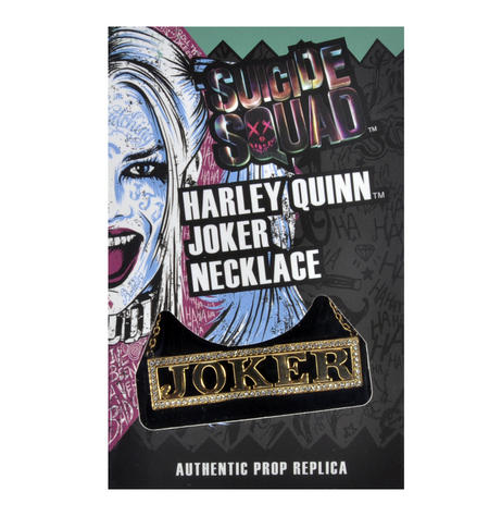 Harley Quinn Joker - Suicide Squad Necklace - Noble Collection Authentic Prop Replica