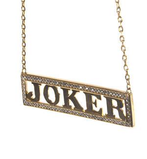 Harley Quinn Joker - Suicide Squad Necklace - Noble Collection Authentic Prop Replica Thumbnail 2