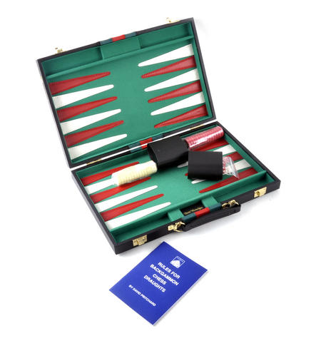 Large Attaché Backgammon - Classic Travel Companion in an Attaché Case