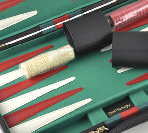 Large Attaché Backgammon - Classic Travel Companion in an Attaché Case Thumbnail 2