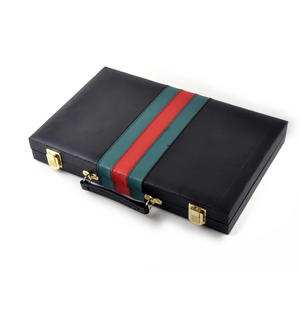 Large Attaché Backgammon - Classic Travel Companion in an Attaché Case Thumbnail 3