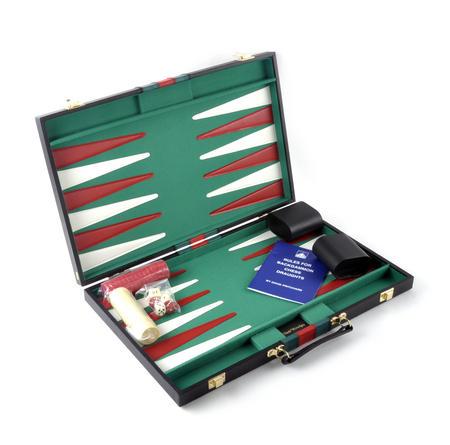 Attaché Backgammon - Classic Travel Companion in an Attaché Case