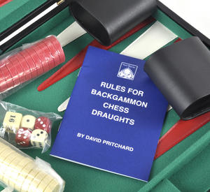 Attaché Backgammon - Classic Travel Companion in an Attaché Case Thumbnail 2