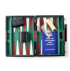 Compact Attaché Backgammon - Classic Travel Companion in an Attaché Case Thumbnail 1