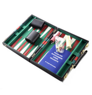 Compact Attaché Backgammon - Classic Travel Companion in an Attaché Case Thumbnail 2