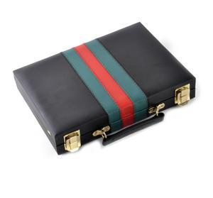 Compact Attaché Backgammon - Classic Travel Companion in an Attaché Case Thumbnail 5