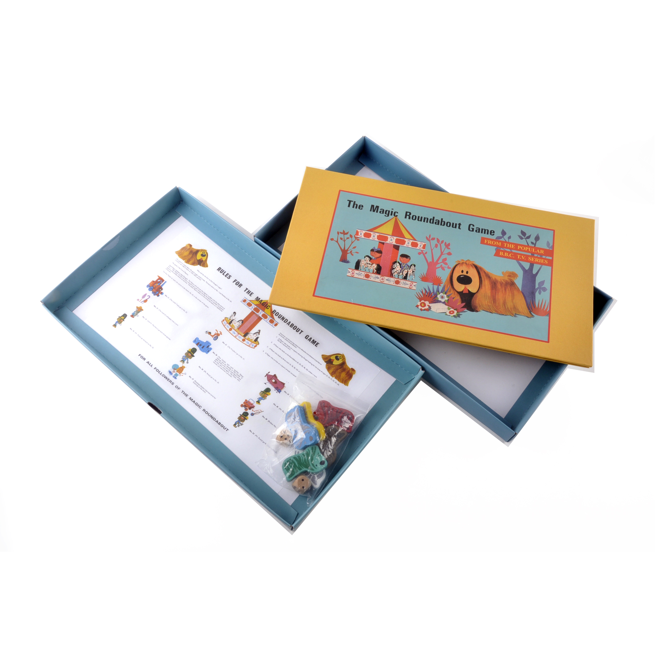 the magic roundabout the classic 1960s children 39 s psychedelic tv series retro board game. Black Bedroom Furniture Sets. Home Design Ideas
