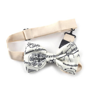 Nuclear Physicist Bow Tie with Radioactivity and Atomic Design Thumbnail 2