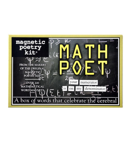 Math Poet Fridge Magnet Poetry Set - Mathematician Fridge Poetry