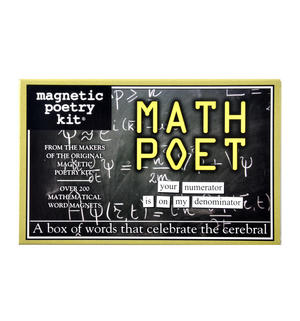 Math Poet Fridge Magnet Poetry Set - Mathematician Fridge Poetry Thumbnail 1