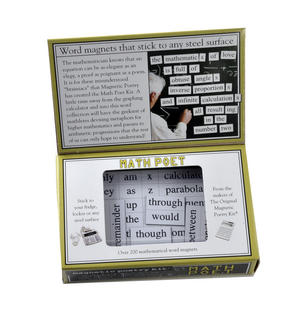 Math Poet Fridge Magnet Poetry Set - Mathematician Fridge Poetry Thumbnail 3