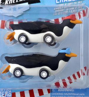 Penguin E- Racer - Pull Back Racing Penguin Erasers Thumbnail 2