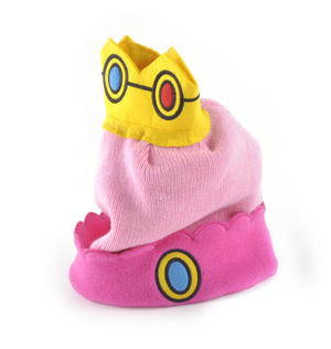 Princess Peach Crown Nintendo Super Mario Brothers Beanie Hat Thumbnail 1