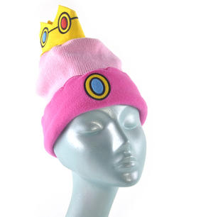 Princess Peach Crown Nintendo Super Mario Brothers Beanie Hat Thumbnail 2