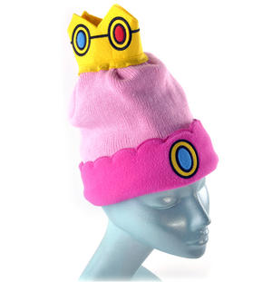 Princess Peach Crown Nintendo Super Mario Brothers Beanie Hat Thumbnail 3