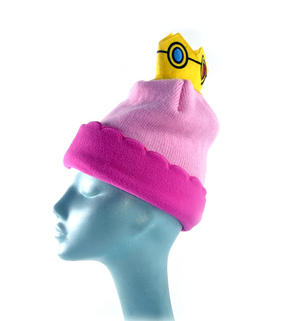 Princess Peach Crown Nintendo Super Mario Brothers Beanie Hat Thumbnail 4