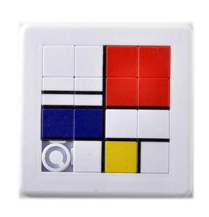 Mondrian Cubist Art Retro Game Puzzle Thumbnail 1