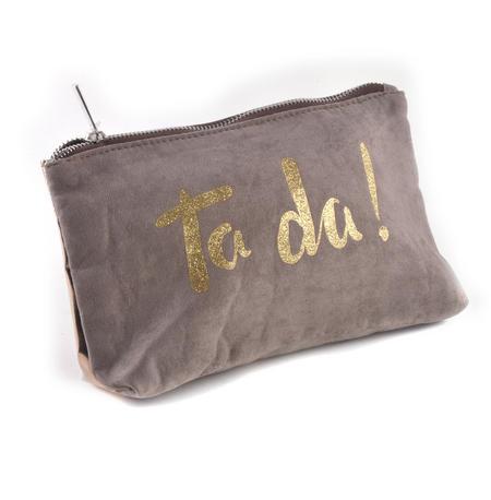 Ta da! Gold Glitter Make Up Bag