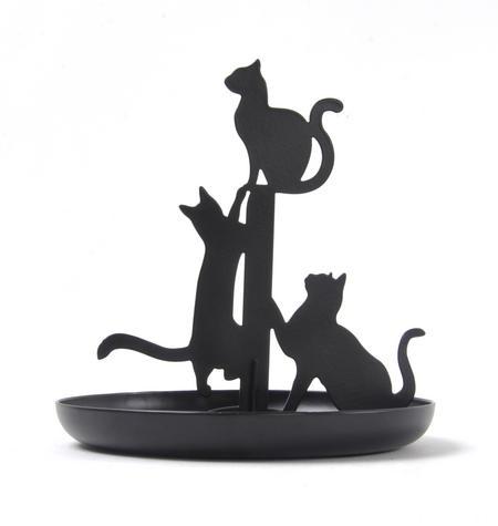 Black Cat Jewellery Stand
