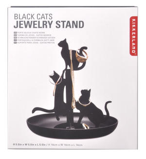 Black Cat Jewellery Stand Thumbnail 3