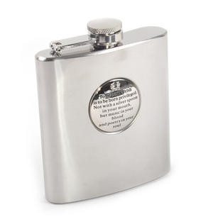 To Be Born Welsh - 6oz Hip Flask Presentation Football Box Set with Funnel & Two Cups Thumbnail 4