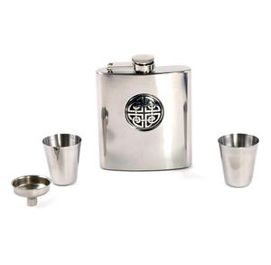 Celtic Knot - 6oz Hip Flask Presentation Box Set with Funnel & Two Cups Thumbnail 5