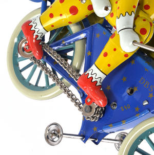 The Two Tin Tandem Clowns  - Classic Clockwork Collector's Toy Thumbnail 8