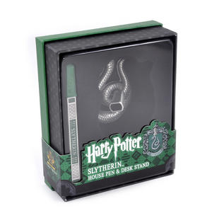 Harry Potter Slytherin Silver Finish Pen Set Noble Collection Thumbnail 4
