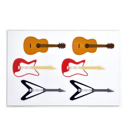 Electric Guitars - 6 Vinyl Magnets