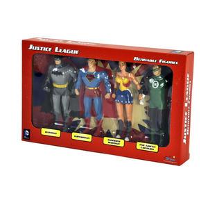 Justice League Bendable Action Figures Set - Batman / Green Lantern / Wonder Woman / Superman Thumbnail 1