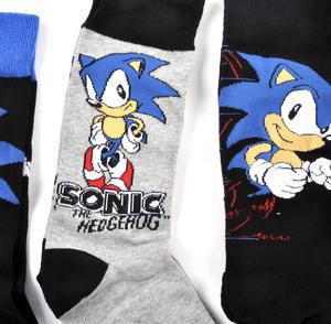 Sonic the Hedgehog Socks - 3 Pairs of Sonic Socks in Metal Presentation Box Thumbnail 4