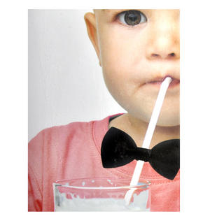 Bow Tie Straws - Set of 6