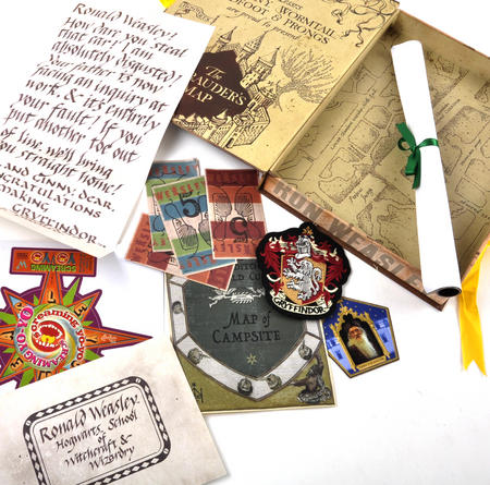 Ron Weasley (Harry Potter) Film Artefact Box - A Trove of Replica Harry Potter Documents and Keepsakes