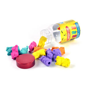 Lucky Cat Erasers - A Jar of Cat Pencil Top Rubbers Thumbnail 4