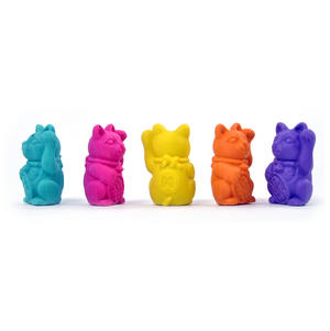 Lucky Cat Erasers - A Jar of Cat Pencil Top Rubbers Thumbnail 6