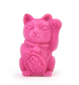 Lucky Cat Erasers - A Jar of Cat Pencil Top Rubbers Thumbnail 7