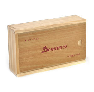 Classic Dominoes - Set of 55 Domino Double Nines in A Wooden Box Thumbnail 3